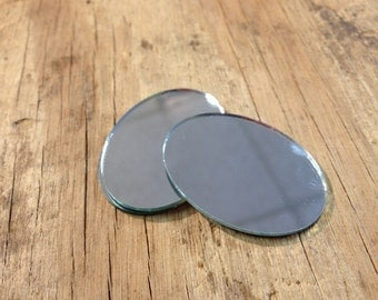 Oval Mirrors 40 x 30mm Lot of 4