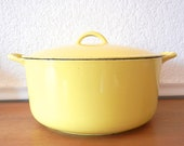 Descoware Yellow Dutch Oven, Large Soup Pot,  12 2-F