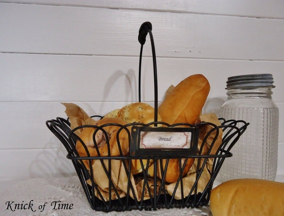 Vintage Metal Bread Basket