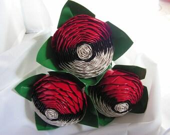 Trio pokebal duct tape rose bouquet