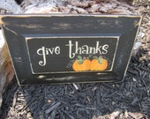 Fall Pumpkin Sign, Harvest Sign, Halloween Sign, Thanksgiving Sign with Pumpkin, Autumn Decor - CHOOSE your saying - 10x6