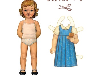 Oliver + S MUSIC BOX JUMPER Sewing Pattern, Sizes 5 - 12 - Girls Dress Sewing Pattern - Dress Pattern