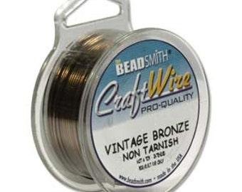 26 gauge Vintage Bronze Craft Wire  BeadSmith   90 Feet