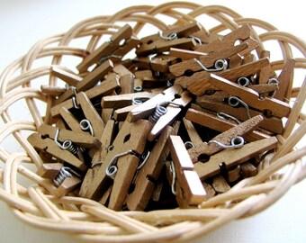Super Deal Bulk Price 400 pcs Mini Clothespin Gold Bronze (25x3mm)