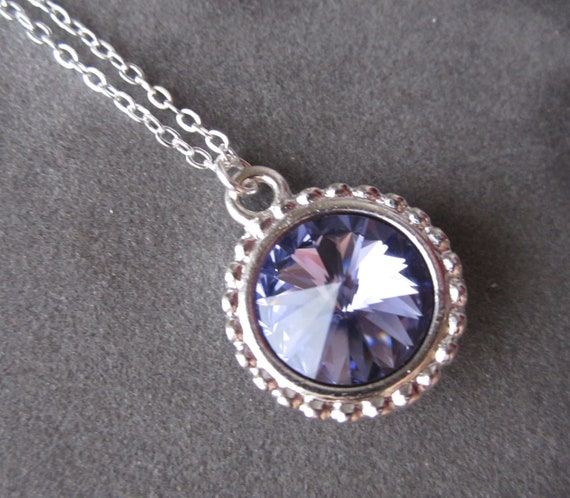 december birthstone necklace tanzanite jewelry purple. Black Bedroom Furniture Sets. Home Design Ideas