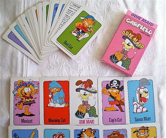 garfield old maid playing cards