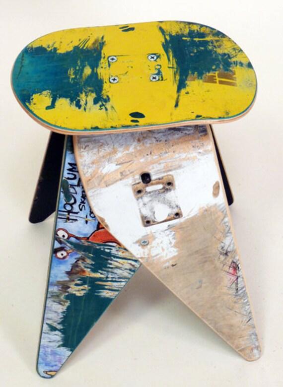 No.303 - Recycled skateboard stool