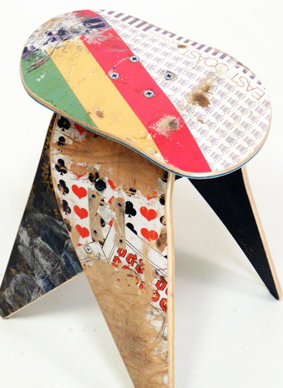No.306 - Recycled skateboard stool