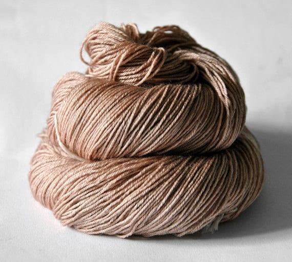 Cinnamon roll dough - Merino/Silk superwash yarn fingering weight