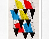 Geometric Issue (Blue, yellow and red). Large print (A3). (Special SPRING offer: Get a poster for free)