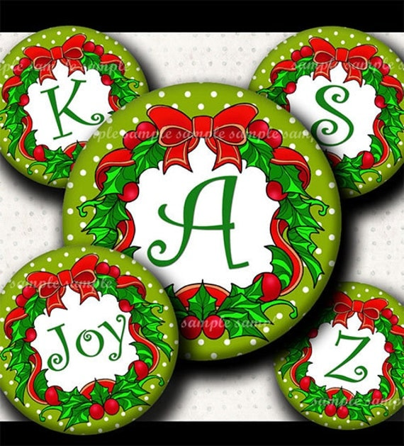 Instant download cutie christmas wreath alphabet by for Alphabet christmas wreath
