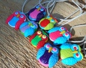 Colorful Sunny Owl Necklace