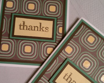 Thanks Brown and Yellow Mod Card set of 2