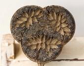 Carved Wooden Fabric Stamp Vintage
