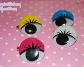 Kawaii Pop Eyeball w/ Lash Pin/Brooch