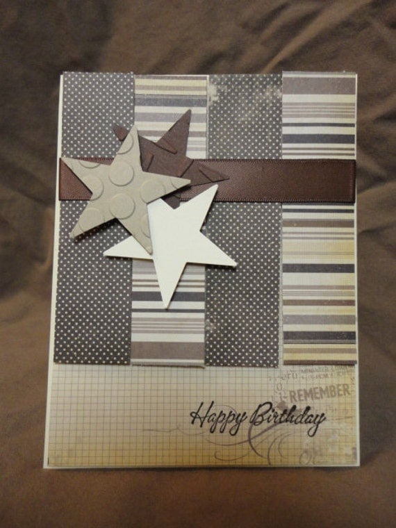 Items similar to Men Vintage Masculine Birthday Card on Etsy