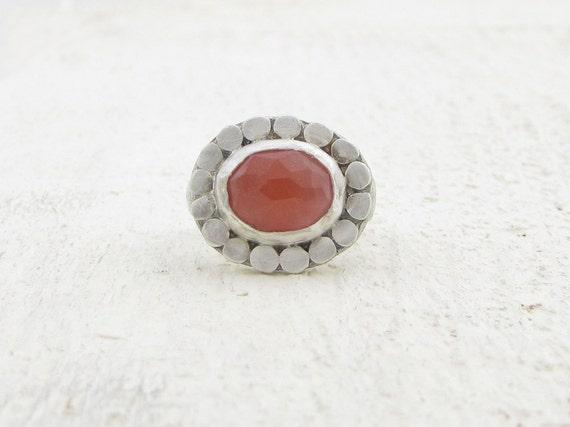 Oval Sherry Quartz Silver Ring - Gemstone Ring