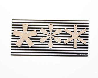 Wood Pendants SNUG.TYPOSTARS / 3 stars