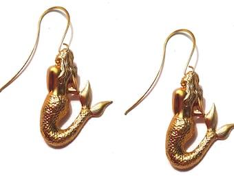Gift For Her, Mermaid Earrings, Bridesmaid Gift, Nautical Jewelry, Girlfriend Jewelry, Beach Wedding, Girlfriend Gift