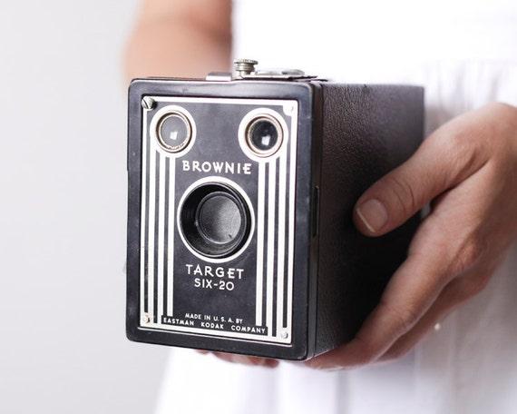 Vintage Box Camera - 1940s Kodak Brownie Target Six-20