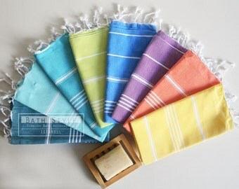 Free Shipment SET / Head and Hand Towel / Classic Style / SET / 8 Towels