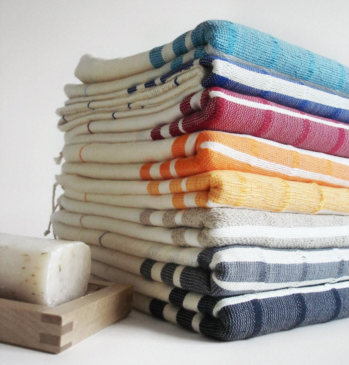 Spa Quality Towels: The BEST Quality Turkish BATH Towel Peshtemal Bamboo Dark