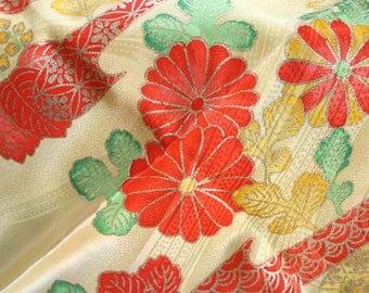 Mabushi Gardens - Vintage Kimono Silk Fabric