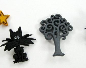 Halloween Buttons Set No. 5