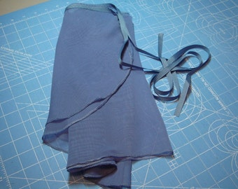 Ballet Wrap Skirt, Slate Blue