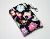 Fabric iPhone 6s Plus Wallet, iPhone 6s Plus Sleeve, iPhone Pouch, Phone Wallet, Samsung Galaxy Note 3 Wallet- Snoozin' Hooters