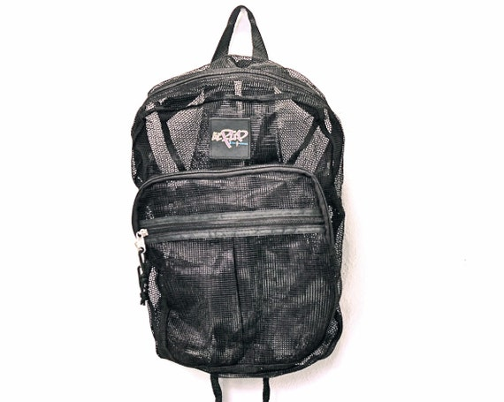 Club Kid Black Mesh Raver Goth Backpack