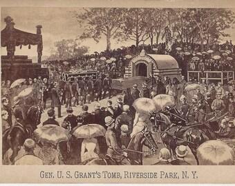 Gen. U.S. Grant's Tomb, Riverside Park, N.Y. Vintage Cabinet Card, 1885