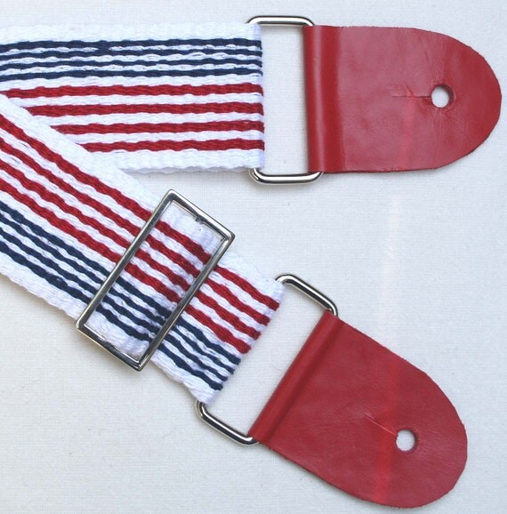 american flag inspired guitar strap red white and blue. Black Bedroom Furniture Sets. Home Design Ideas