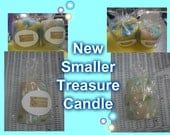Custom Treasure Candles - beautiful scented candles hand poured containing 1 piece of genuine diamond, gemstone, handmade jewelry per candle