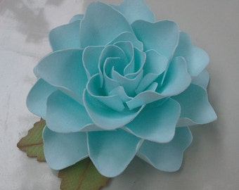 Paper Flowers - Weddings - Party Favors - Custom Colors Available Set of 24 - Powder Blue