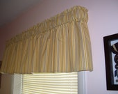 Gold Stripe valance