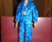 Royal blue Velour jogging suit & top set for Fashion Dolls - ed234