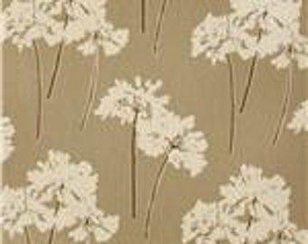 "NEW- Pillow Cover Cushion  20""x20""  taupe serenity floral linen"