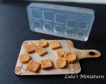 Silicone Flexible Biscuits Mold for Dollhouse Miniature