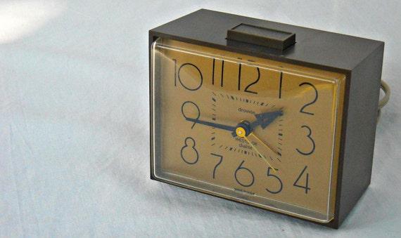 Vintage Westclox Dialite Drowse Alarm Clock