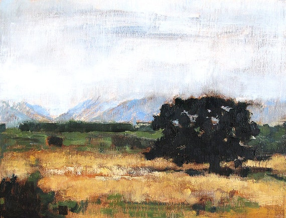 Mountain Fog, California Landscape painting