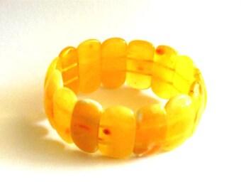 Baltic Amber Butterscotch Bracelet Natural Untreated Yellow 27.3 gram 8 inch