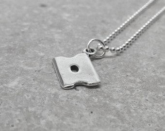 Razor Blade Necklace, Razor Blade Jewelry, Razor Necklace, Razor Jewelry, Charm Necklace, Sterling Silver Jewelry, Sterling Silver Razor