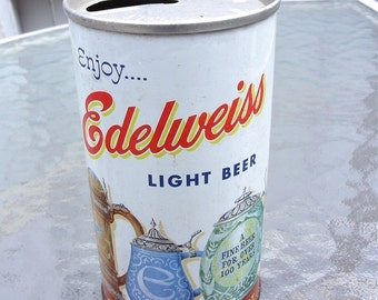 Vintage Edelweiss Pull Top Beer Can