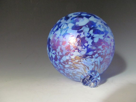 Blown Glass Ornament - Blue Ornament - Mixed Blues Ornament - Handmade Glass Ornaments
