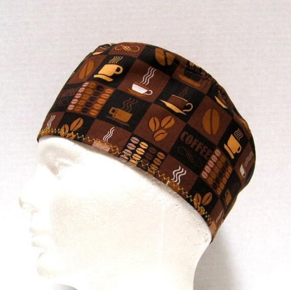 Coffee Shop Unisex Scrub Hat or Chemo Hat