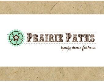Custom Logo Design - PreDesigned Logo - PreMade Logo - Vector Logo - OOAK Logo - PRAIRIE PATHS Logo Design - Western Logo - Southern Logo