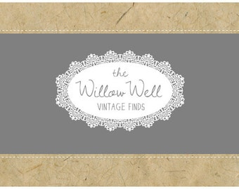 Custom Logo Design - PreDesigned PreMade Logo - Vector Logo - OOAK Logo - WILLOW WELL Logo Design - Lace Logo - Oval Logo - Vintage Logo