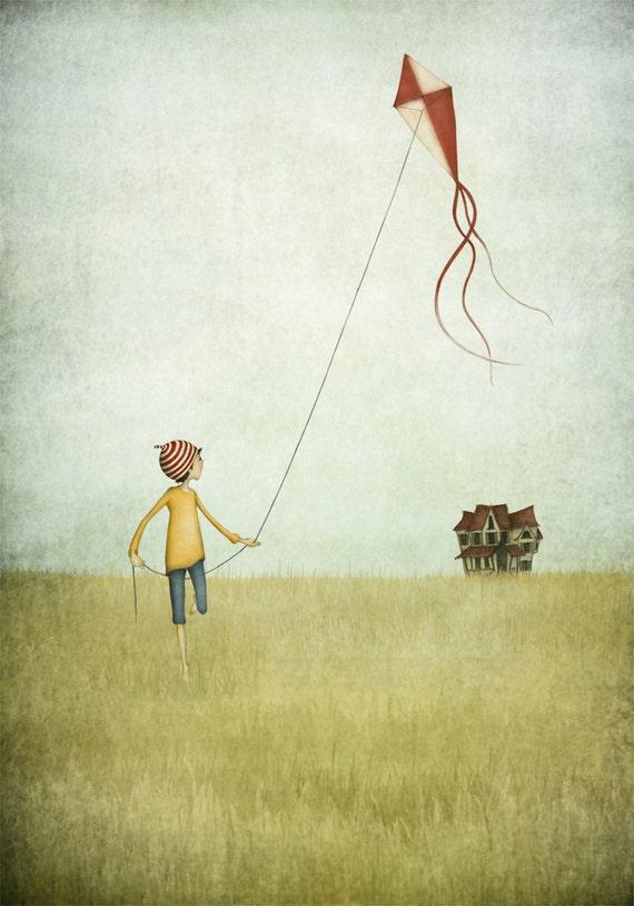 Kite runner - Art print (3 different sizes)