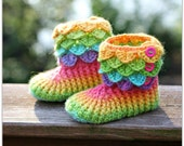 CROCHET PATTERN: Crocodile Stitch Boots (Child Sizes) - Permission to Sell Finished Product